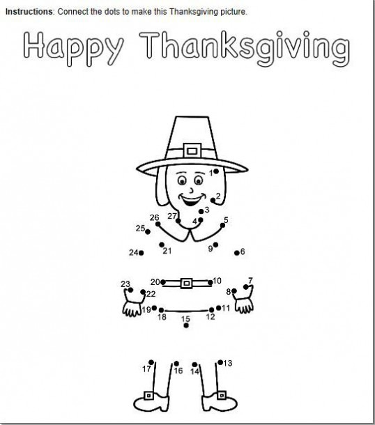 Free Thanksgiving Connect The Dots Printables  Choose Count By 1's