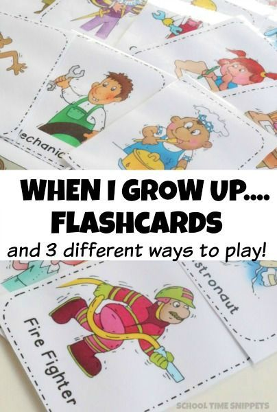 Fun 'when I Grow Up' Flashcards And Activities