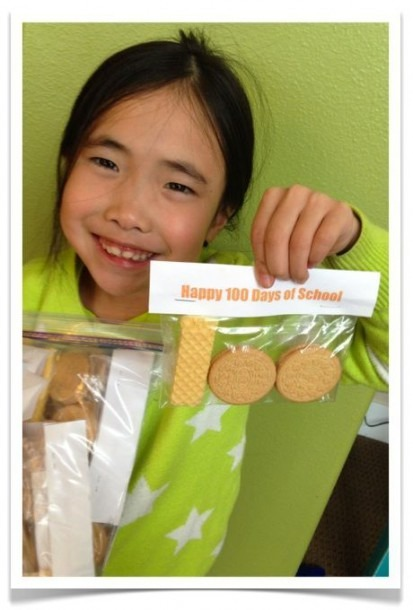 Happy 100 Days Of School  Fun (easy) Treat Project To Share With