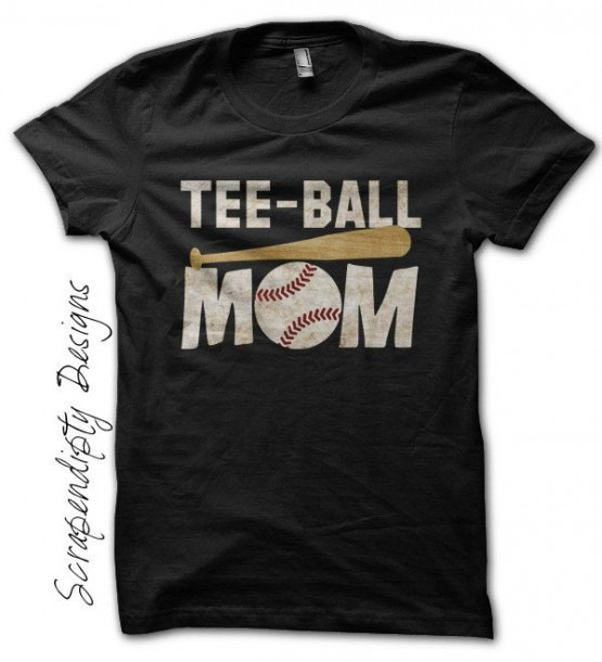 Tball Mom Shirt, Custom Tee Ball Tshirt, Customized Womens Shirt