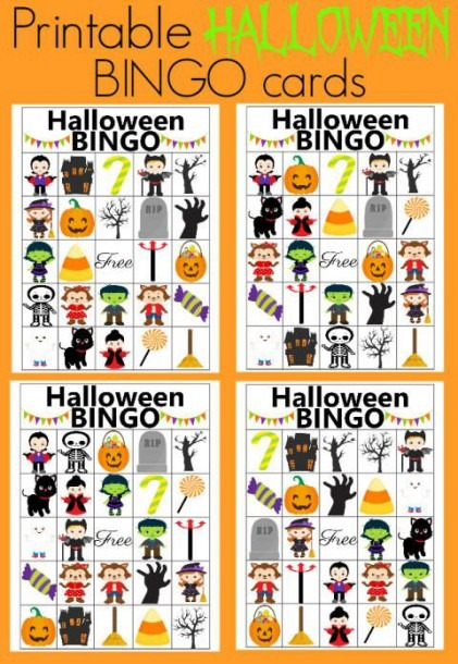 Use These Printable Bingo Cards For Your Halloween Party  It's The