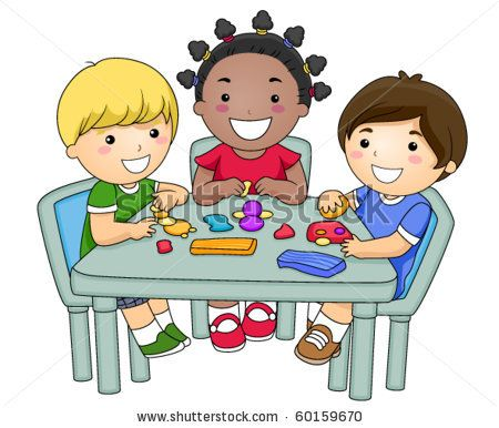 Daycare Clipart Preschool Small Group, Daycare Preschool Small