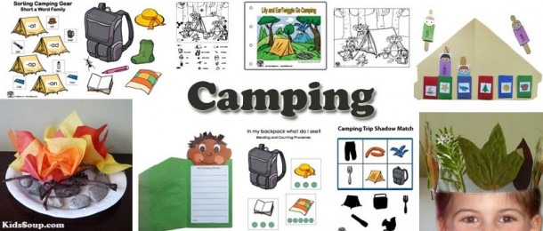 Camping Preschool Activities, Crafts, And Games
