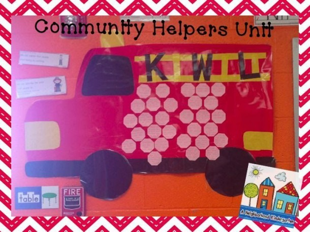 Community Helpers Kwl Chart, Career Jobs Math And Literacy Center
