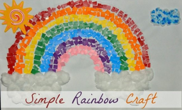 Rainbow Crafts For Kids   Paint Chips Rainbow Craft