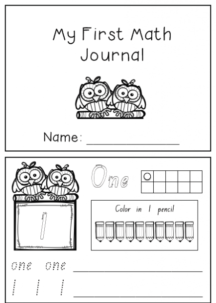 My First Math Journal  Covers 3 Weeks Of Morning Work