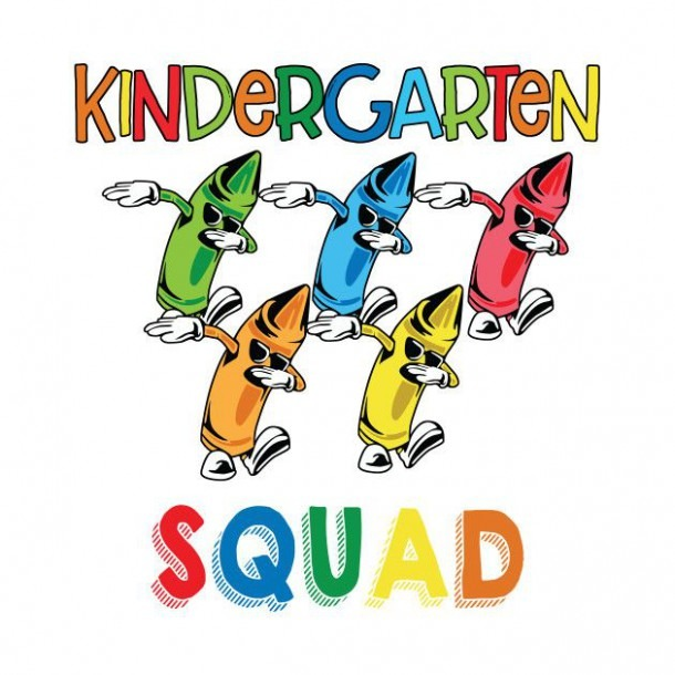 Check Out This Awesome 'kindergarten+squad+crayon+dabbing+back+to+
