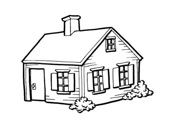 House Coloring Pages For Kindergarten