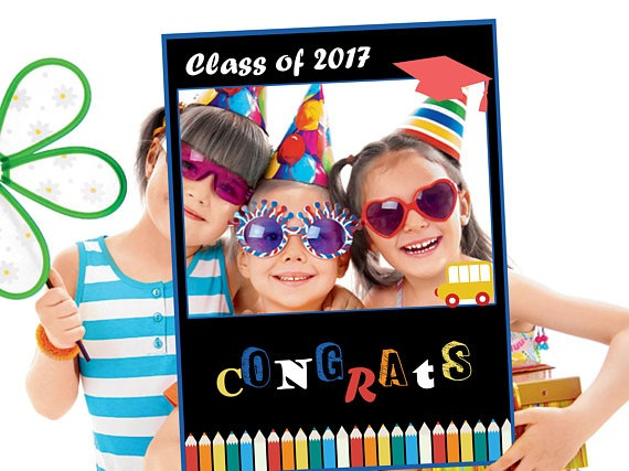 Large Personalized Preschool Graduations Party Photo Booth Prop