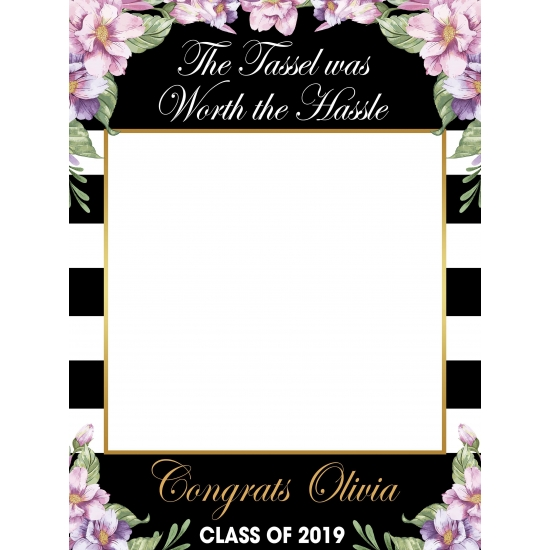Graduation Photo Booth Props Floral Garden Booth Frame