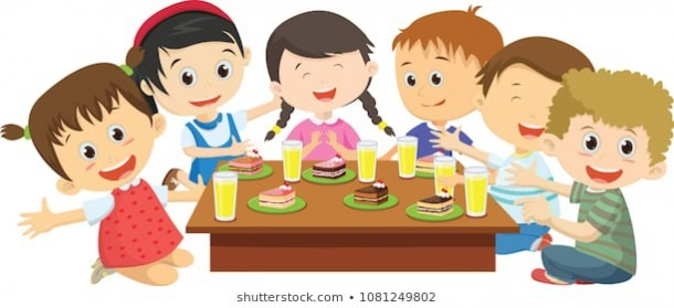 Eating Lunch Cartoon Images, Stock Photos & Vectors