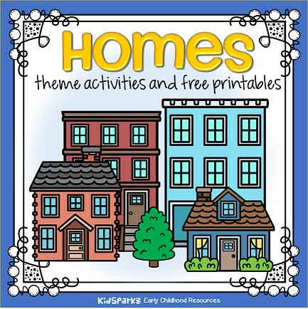 Homes Theme Activities And Printables For Preschool And