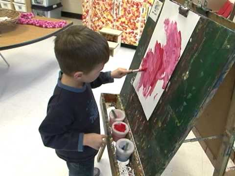 Kindergarten Students Express Themselves Through Visual Arts
