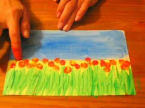 Field Of Flowers  A Preschool Early Elementary Painting Lesson