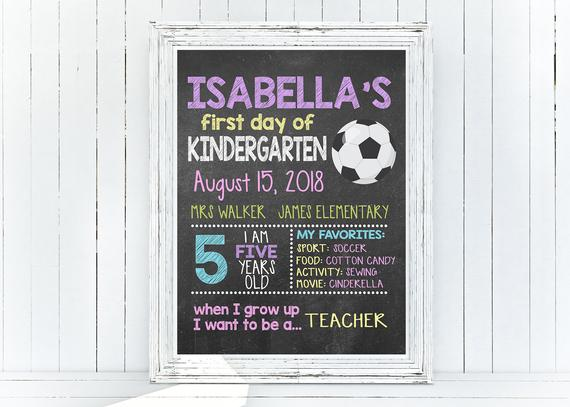 Custom Back To School Soccer Photo Prop Back To School