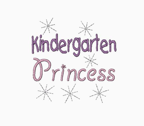 Kindergarten Princess Machine Embroidery Design In Multiple