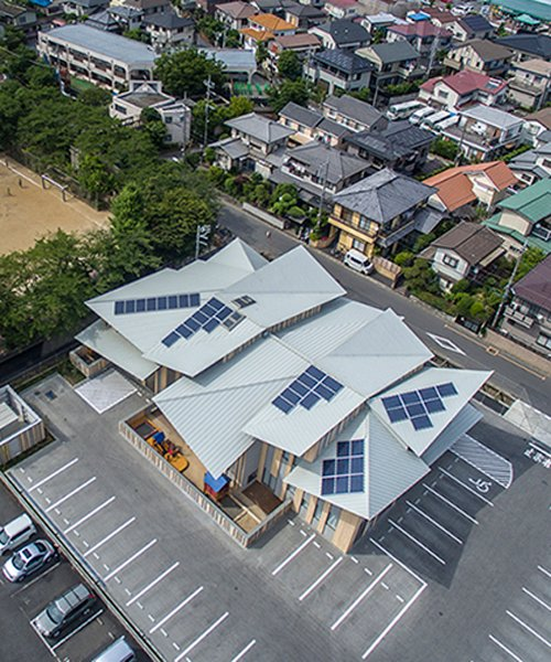 Kengo Kuma Tops Kindergarten In Japan With Multiple Pitched Roofs