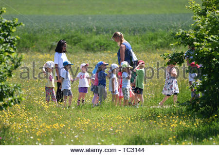 Munich, Deutschland  04th June, 2019  Kindergarten Children With