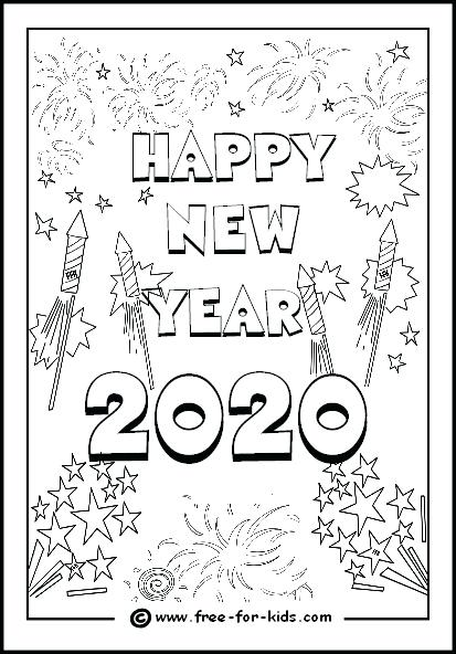 New Year Coloring Pages Years 2018 Printable Colouring – Netsel Club