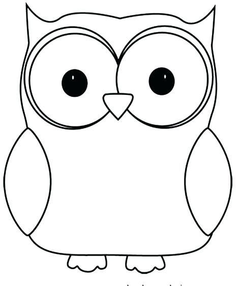 Owl Coloring Pages Preschool At Getdrawings Com