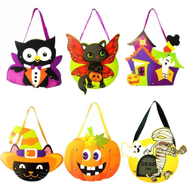 2019 Diy Halloween Pumpkin Witch Hand Bag 12 Designs Halloween