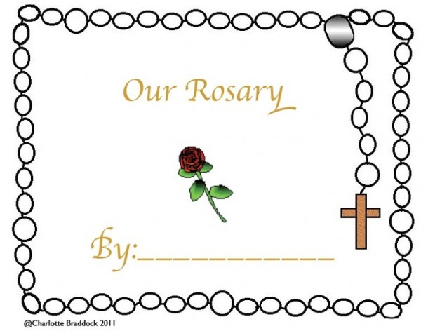 Rosary Clipart Kid Worksheet, Picture  201891 Rosary Clipart Kid