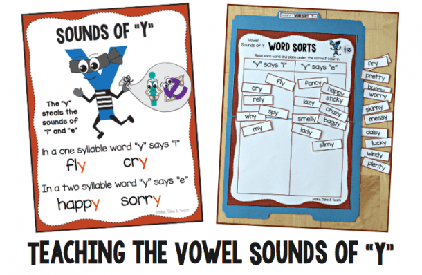 Teaching The Vowel Sounds Of Y