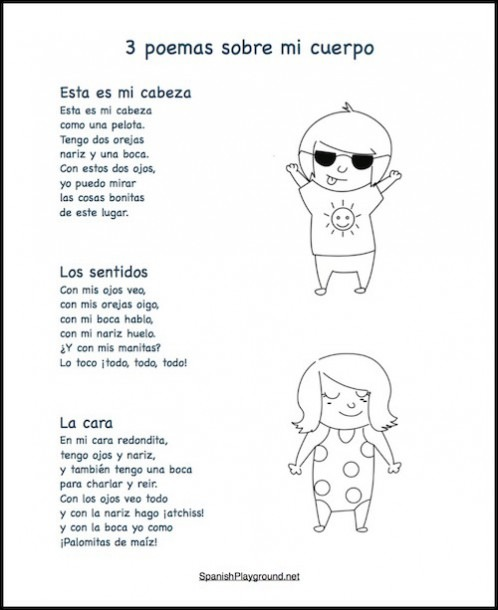 Poems About Body Parts In Spanish