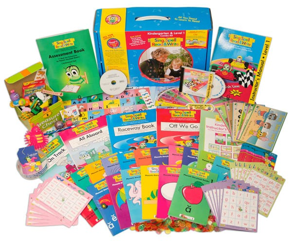 Sing, Spell, Read & Write Kindergarten And Level 1 Combo Kit With