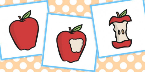 3 Step Sequencing Cards Eating An Apple (teacher Made)