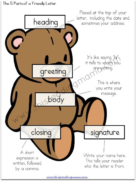Teaching Kids How To Write A Letter {free Printable}