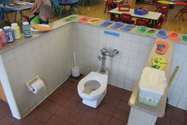 All Toilets Must Be Centered In The Middle Of The Classroom So