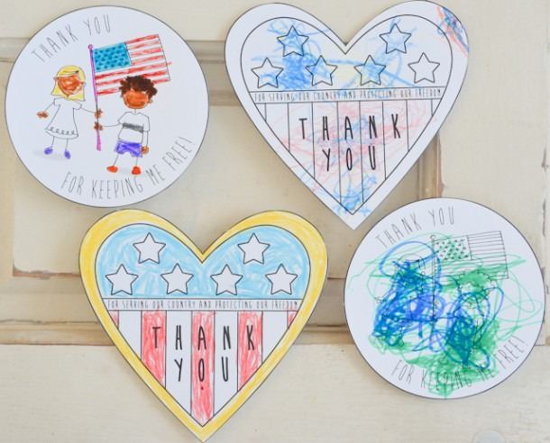 Veterans Day Cards For Kids To Color