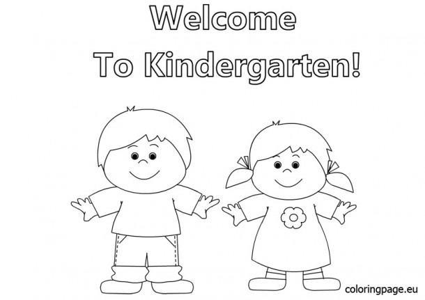 Welcome Back To School Coloring Pages For Kindergarten  3850