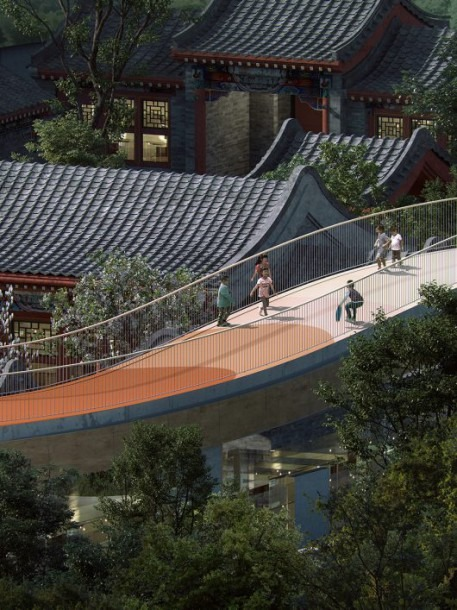 Traditional Chinese Courtyard Into A Kindergarten With Floating