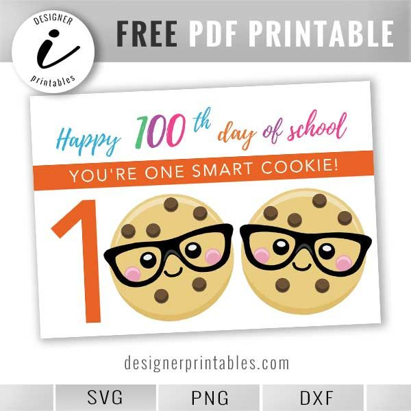 Free Printable  100th Day Of School