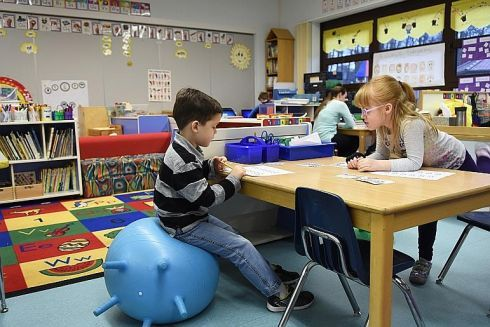 Getting Their 'wiggles' Out — Flexible Seating Comes To Military