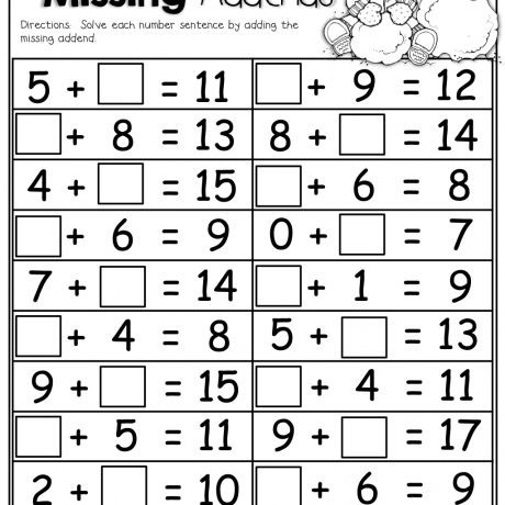 Find The Missing Addend 1 Pinterest Math School Number Addition