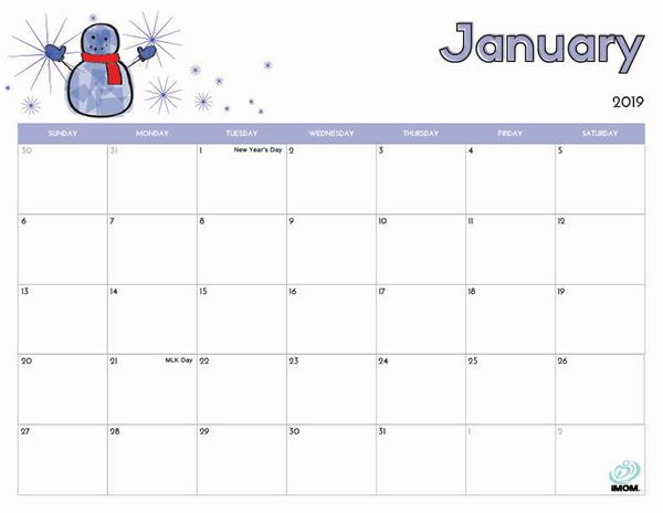 2020 Printable Calendar For Kids