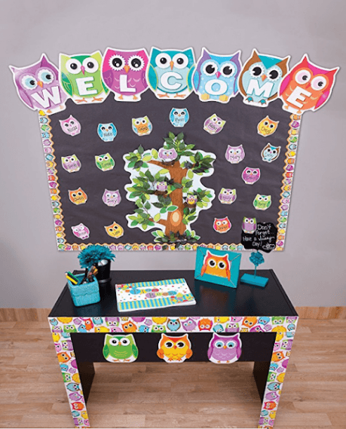 Owl Classroom Theme With Colorful Owls Borders