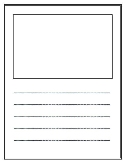 Write And Draw! Lined Paper With Space For Story Illustrations