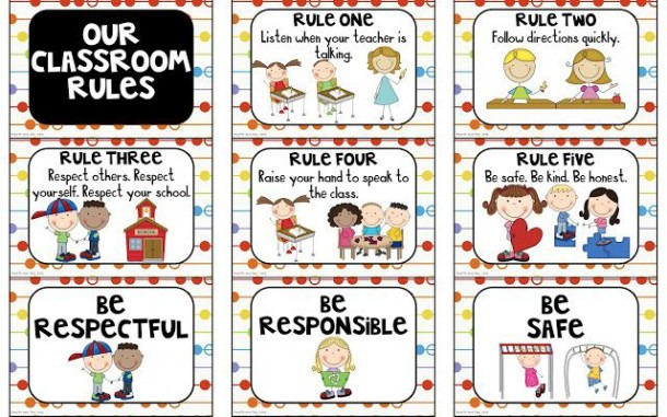 First Grade Safety Rules Expectations