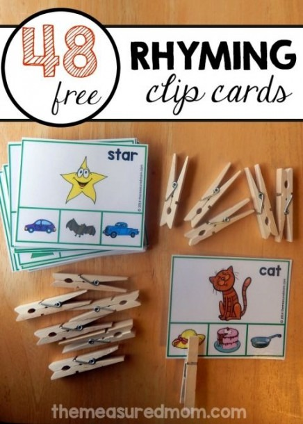 Teach Rhyming Words With This Fun Printable