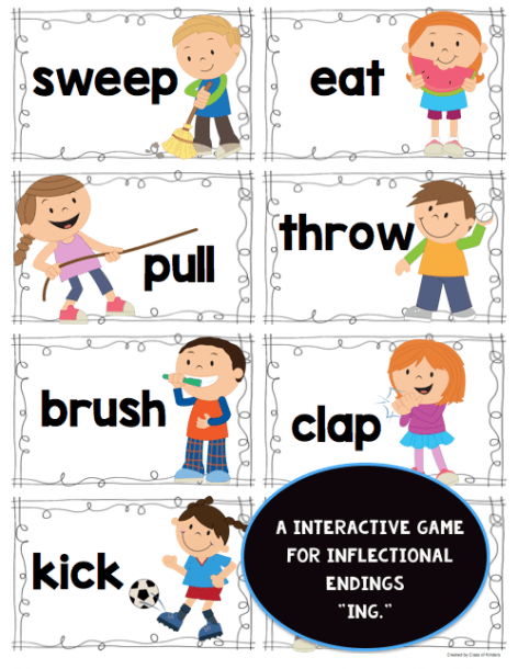 Perfect For Kindergarten Or First Grade  Students Will Find A Verb