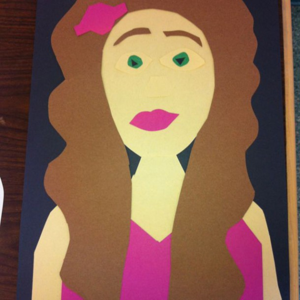 Self Portrait Done Using Construction Paper Instead Of Drawing