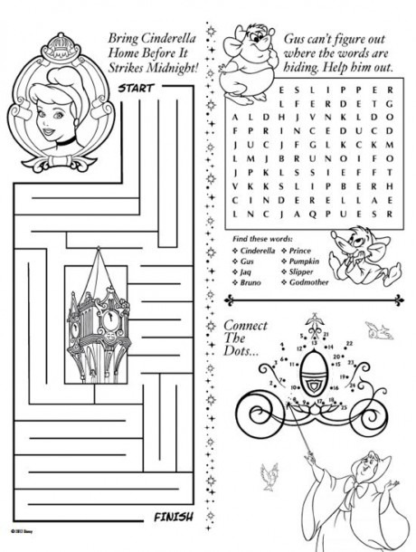 Disney Printable Activity Pages …