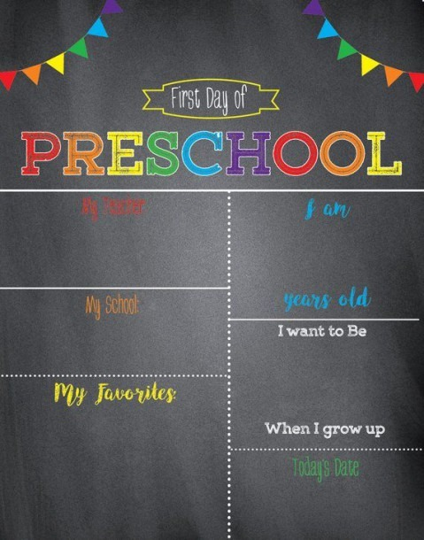 First Day Of School Sign – Chalkboard School Sign–first Day Of
