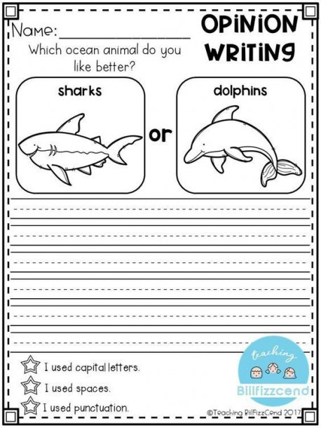 Free Writing Prompt  Opinion Writing For First Grade  This Is Also