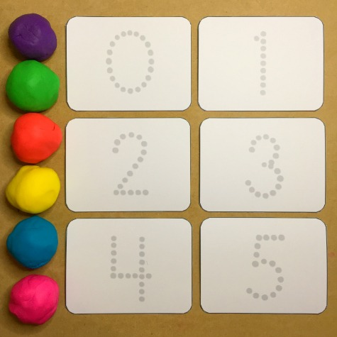 Playdough Number Tracing