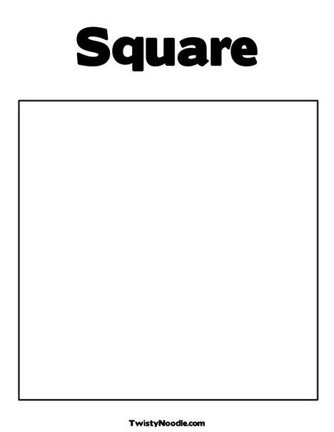 Square Coloring Page From Twistynoodle Com